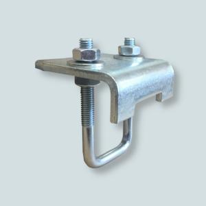 Klamra dźwigara pozwala na montaż szyny montażowej do profili hutniczych typu HEA, HEB