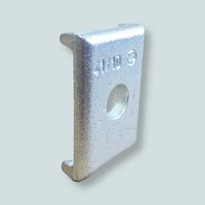 Podkładka niezbędna do połączenia obejmy montażowej z konsolą wsporczą lub szyną montażową.