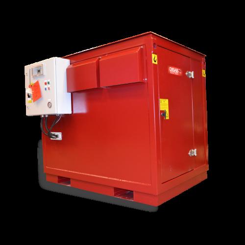 Stacjonarny odkurzacz przemysłowy PES101 Disab do instalacji centralnego odkurzania