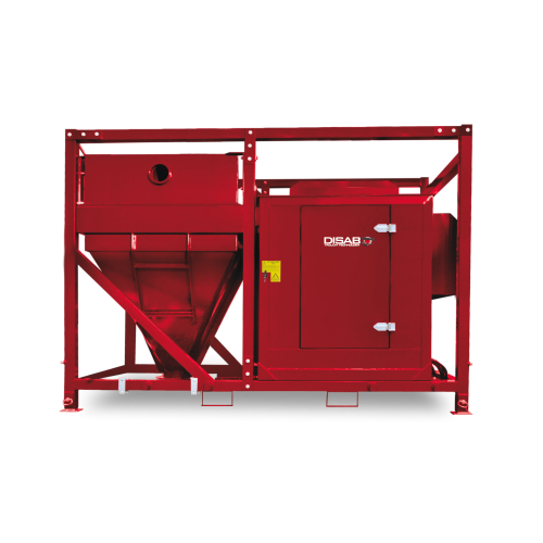przenośny odkurzacz przemysłowy SEBF II Disab do manewrowania przy użyciu standardowego wózka widłowego lub dźwigu