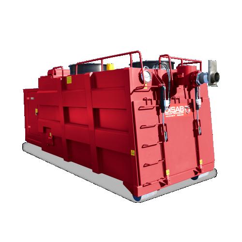 Odkurzacz przemysłowy RoRoVac Disab zamontowany na ramie nośnej roro (roll on, roll off)