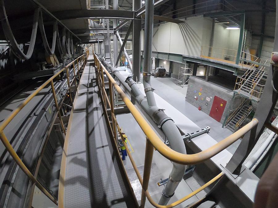 Instalacja centralnego odkurzania zainstalowana w hucie szkła