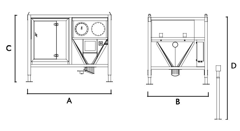 wymiary odkurzacza przenośnego SEBF II Disab
