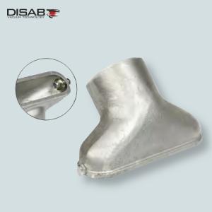 Ssawa siluminowa do odkurzania płaskich powierzchni wyposażona w kółka ułatwiające manewroanie Disab