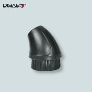 Ssawa szczotkowa okrągła Disab z włosiem nylonowym do odkurzania maszyn, silników, konstrukcji metalowych