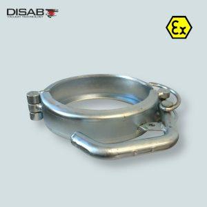 Klamra do szbkiego łączenia elementów systemu Disaflow firmy Disab