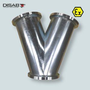 Trójnik pozwalający na połączenie 2-3 węży ssących z systemem Disaflow firmy Disab