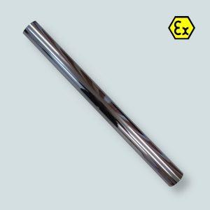 Rura ssawna do odkurzacza prosta o długości 0,5 m, wykonana ze stali chromowanej