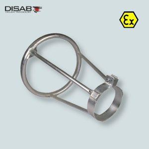 Aluminiowy uchwyt do montażu rury ssącej firmy Disab